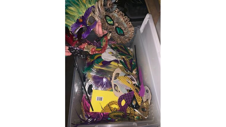 Picture of a Mask-Mardi Gras Variety-Tub