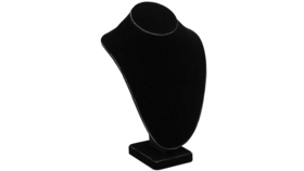Image of a Black Velvet Necklace Display