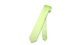 Image of a Neck Tie-Lime Green Satin
