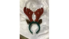 Image of a Hat-Head Bands-Reindeer-With Lights