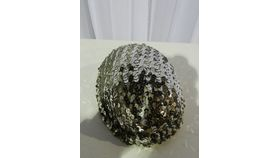 Image of a Hat-Silver Sequin Pill Box