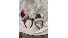Image of a Hat-Head Band-Red Santa