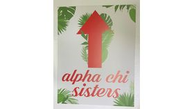 Image of a Sign-Alpha Chi Omega-Sisters ^