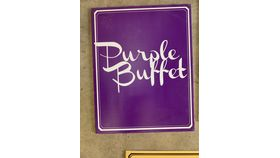 Image of a Sign-Buffet-Purple