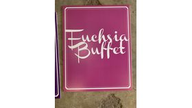 Image of a Sign-Buffet-Fuchsia