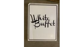 Image of a Sign-Buffet-White