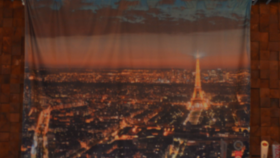 Image of a Backdrop-Paris Skyline