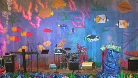 Image of a Backdrop-Under the Sea Canvas