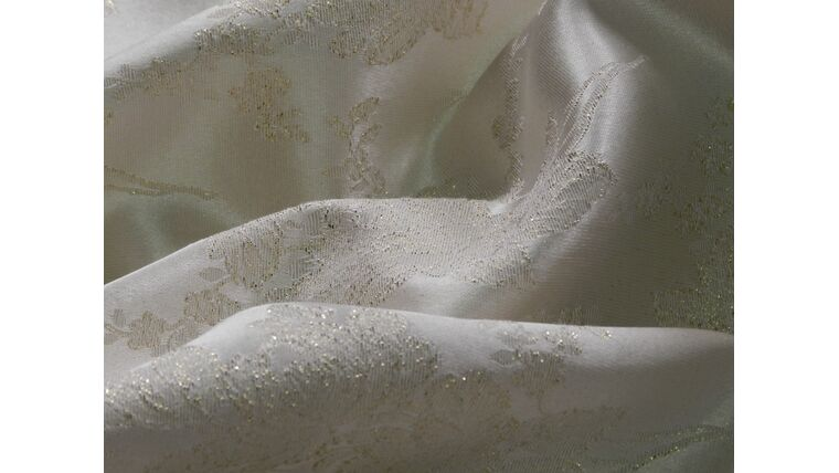 "Picture of a 106""R Ivory Shimmer Brocade"