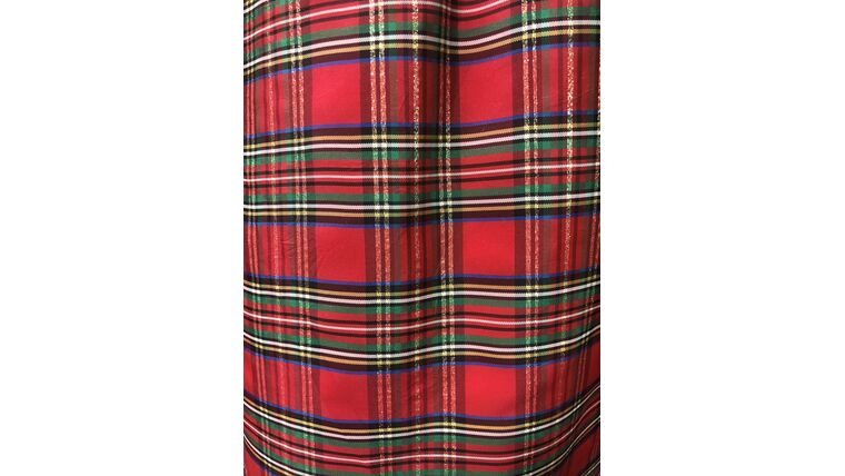 """Picture of a 100""""R Christmas Plaid Shimmer"""