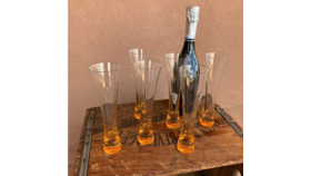 Image of a Veuve Outdoor Flutes