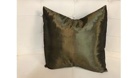 Image of a Pillow Covers-Green Olive Taffeta