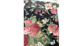 "Image of a 108""R Black Floral"
