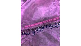 Image of a Table Runner-Plum Organza