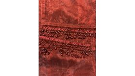 Image of a Table Runner-Red Organza
