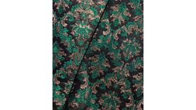 Image of a Table Runner-Black, Green and Gold Filigree