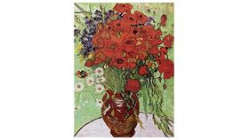 Image of a Van Gogh Poppies Wooden Puzzle
