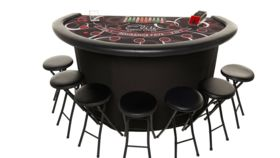 Image of a Elite Cosmo Blackjack Table RED