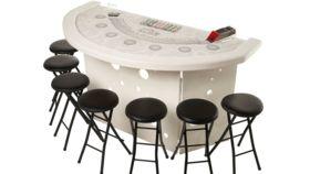 Image of a Elite White Blackjack Table