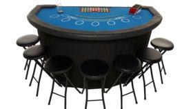 Image of a Elite BLUE Unbranded Blackjack Table