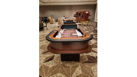Image of a Elite Cow Print Western Themed Craps Table