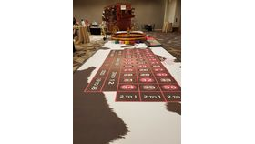 Image of a Elite Cow Print Western Themed Roulette Table