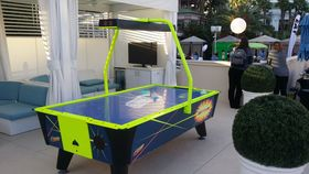 Image of a 7' LED Air Hockey Table