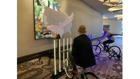2 player Pedal Power Bicycle LED Tug-o-War Challenge image