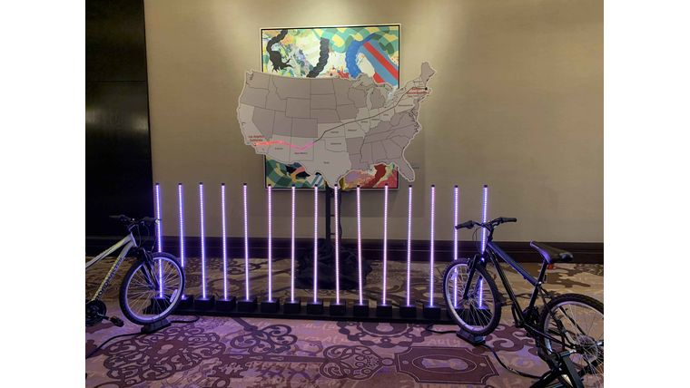 Picture of a 2 player Pedal Power Bicycle LED Tug-o-War Challenge