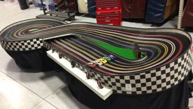 Image of a 5 Lane Slot Car Track- 1/32 scale cars