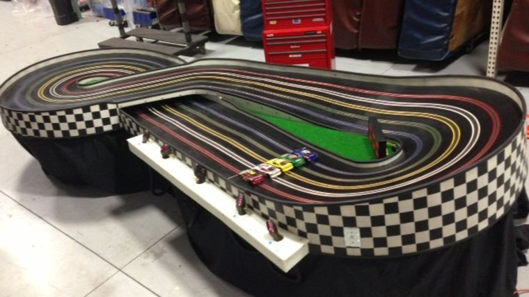 Picture of a 5 Lane Slot Car Track- 1/32 scale cars