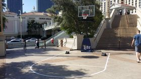 Image of a Basketball Portable Hoop with Shooter Key
