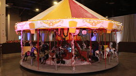 Image of a Merry Go Round, Carousel Ride, 20ft