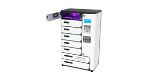 8 Bay Charging Station with UVC SECURE PHONE STERILIZATION WITH UV-C LIGHT image