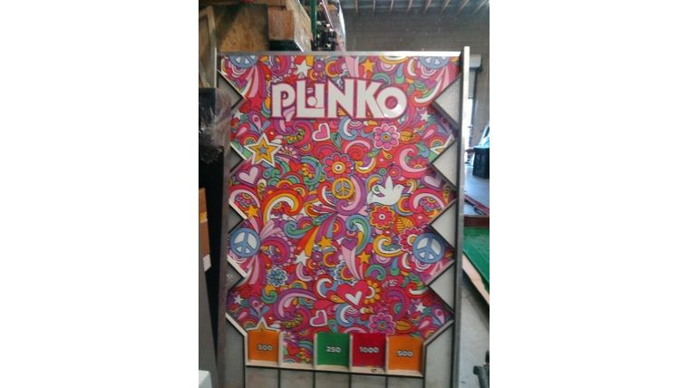 Picture of a Giant Plinko game with Branding and LED Lights, 5x7