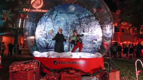 Image of a Giant Snow Globe with Tunnel