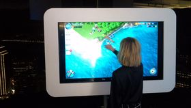 Image of a Giant Surface Pro Touchscreen