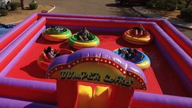 Image of a Inflatable Carnival Ride - Orbital Bumper Cars