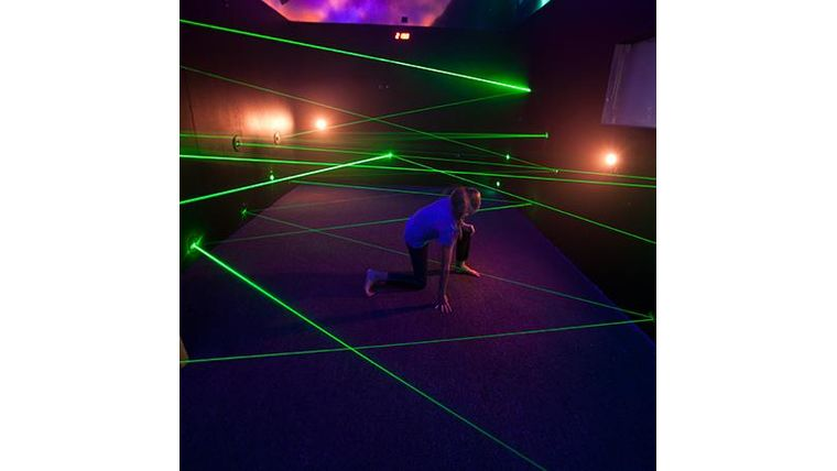 Picture of a Interactive Laser Maze, 007 challenge