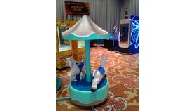 Image of a Kiddie Ride 2 Horse Carousel, Coin op style
