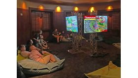 Image of a LAN Party   Mario Kart / Super Smash Bro's