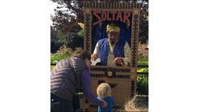 Image of a LIVE Zoltar Fortune Teller & Booth