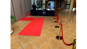 Image of a 25' Red Carpet