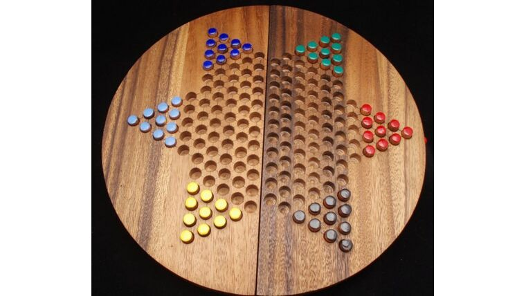 Picture of a Giant Table Top Chinese Checkers
