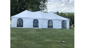 Image of a 20'x40' White Canopy