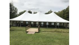 Image of a 30'x60' White Canopy (can be 30x45 less $150)