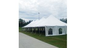 Image of a 40'x100' White Canopy (less $200 for 40'x80')