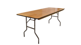 Image of a 6' Banquet Table (wood)