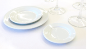 """Image of a 7.5"""" White Salad/Dessert Plate"""