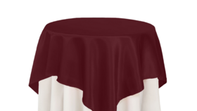 """Image of a 72""""x72"""" Tablecloth White"""